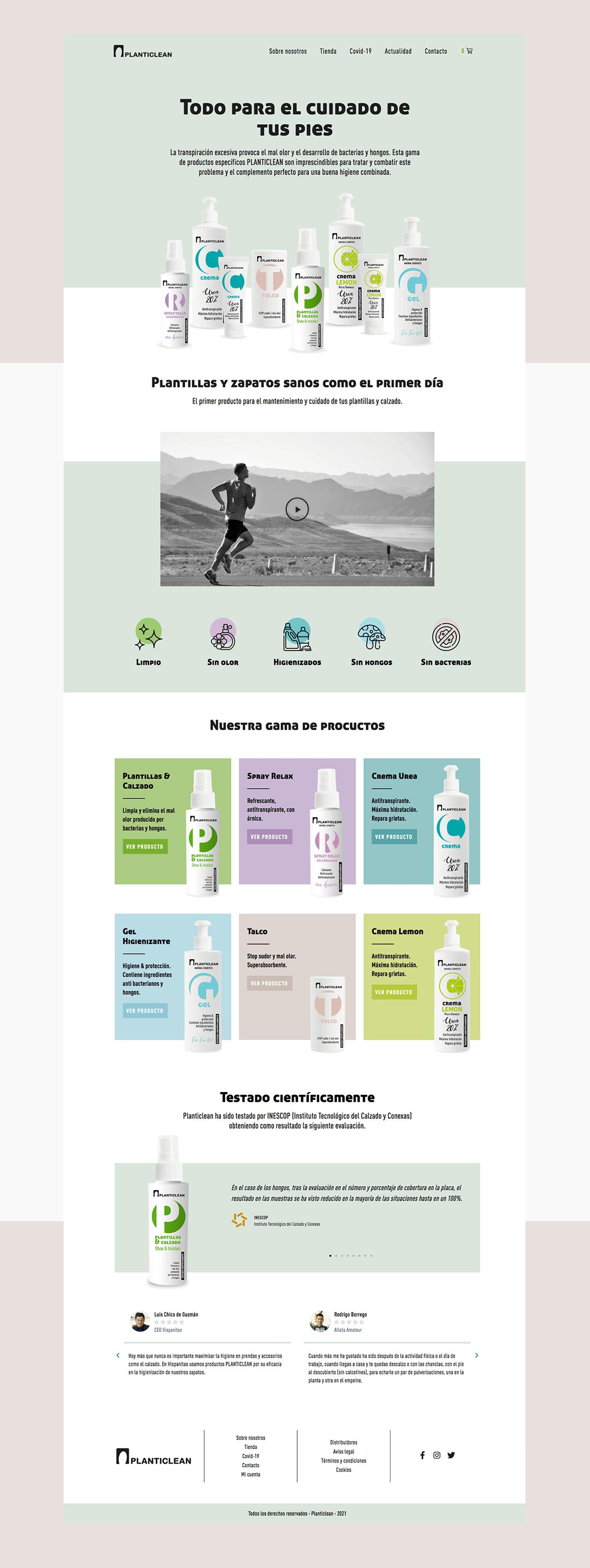 Diseño Web Ecommerce Planticlean